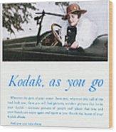 Kodak Advertisement, 1917 Wood Print