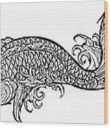 Koi Carp Grafeeney Styleeee Wood Print