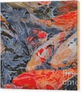 Koi Pond II Wood Print
