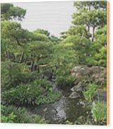 Kokoen Samurai Gardens - Himeji City Japan Wood Print by Daniel Hagerman