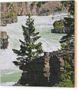 Kootenai Falls In Montana Wood Print