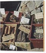 Korean Spice Market Wood Print