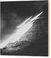 Korean War: Rocket Launch Wood Print