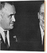 Korolev And Sheremetyev, Soviet Engineers Wood Print