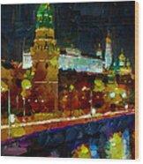 Kremlin Lights Wood Print