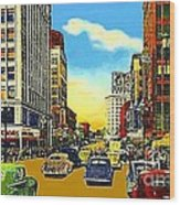 Kress And Woolworth's Stores In Seattle Wa In 1950 Wood Print