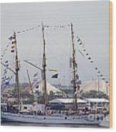 Kri Dewaruci Passing By Fort Mchenry Wood Print
