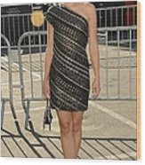 Kristen Bell Wearing An Etro Dress Wood Print