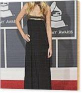 Kristen Bell Wearing An Etro Gown Wood Print by Everett