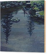 Kubota Reflections Wood Print