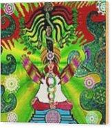 Kundalini Rising And The Tree Of Twelve Fruits Wood Print