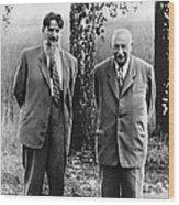 Kurchatov And Ioffe, Soviet Physicists Wood Print