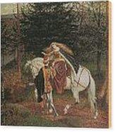 La Belle Dame Sans Merci Wood Print