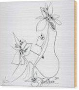 La Fleur De La Femme Wood Print