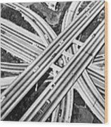 La Freeway Interchange Wood Print