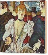 La Goule Arriving At Moulin Rouge Wood Print
