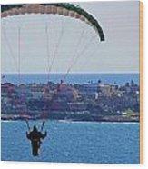 La Jolla Hang Glider  Wood Print