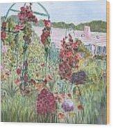 La Maison Et Le Jardin De Monet Wood Print