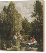La Mare Aux Fees Wood Print by Pierre Auguste Renoir