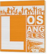 La Orange Poster Wood Print