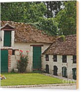 La Pillebourdiere Old Farm Outbuildings In The Loire Valley Wood Print by Louise Heusinkveld