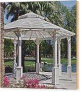 La Quinta Park Gazebo Wood Print