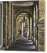 La Rochelle Sidewalk Wood Print