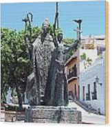 La Rogativa Sculpture Old San Juan Puerto Rico Wood Print by Shawn O'Brien