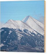 La Sal Mountains 111 Wood Print