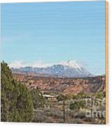 La Sal Mountains Wood Print
