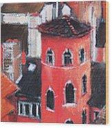 La Tour Rose In Lyon 1 Wood Print