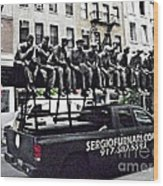 Labor Day On West Broadway Nyc Wood Print