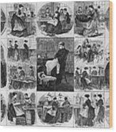 Labor: Women, 1868 Wood Print