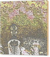 Lace Wood Print