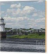 Lace Lighthouse Wood Print