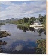 Lackagh River, Creeslough, County Wood Print
