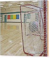 Lacrosse Goals In A Gymnasium Wood Print by Marlene Ford