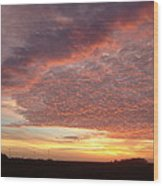 Lacy Pink Sunset Wood Print