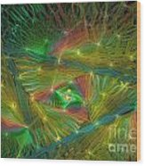 Lacy Rainbow Triangle Wood Print