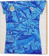 Ladies Gamefish Collage Shirt Wood Print