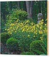 Lady Among The Blossoms Wood Print