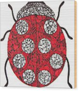 Lady Bug Wood Print
