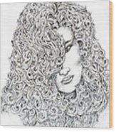 Curls Wood Print