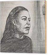Lady Day Wood Print