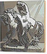 Lady Godiva Statue Wood Print