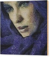 Lady In Blue Wood Print by Gun Legler