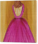 Lady In Pink 4536 Wood Print by Jessie Meier