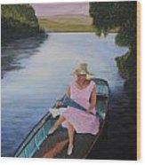 Lady In Pink Wood Print by Siobhan Lawson