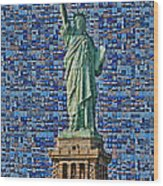 Lady Liberty Mosaic Wood Print