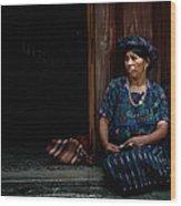 Lady Of Antigua Wood Print
